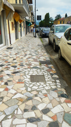 The streets of Carrara, paved in marble